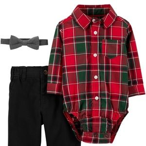 Carter's 3-Piece Plaid Dress Me Up Set